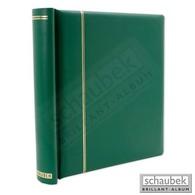 Schaubek DK100/4 Klemmbinder, Grün, Mit 40 Blankoblättern Bb 100 - Groß, Grund Schwarz