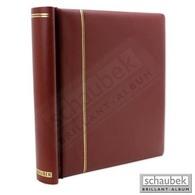 Schaubek DK110/1 Klemmbinder, Mit 40 Blankoblättern Bb110 Rot - Groß, Grund Schwarz
