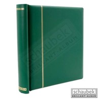 Schaubek DK110/4 Klemmbinder, Grün, Mit 40 Blankoblättern Bb110 - Groß, Grund Schwarz