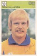 RONNIE HELLSTROM,SVIJET SPORTA SOCCER CARD - Soccer