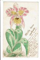 CPA - Carte Postale Belgique - Mille Bon Souhaits-avec Une Grande Fleur-1909 S5181 - Nieuwjaar