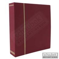 Schaubek DS100/1 Ganzleinen-Schraubbinder, Mit 40 Blankoblättern Bb100 Rot - Klemmbinder