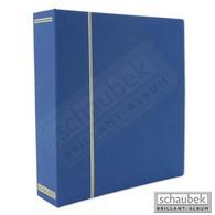 Schaubek DS100/3 Ganzleinen-Schraubbinder, Blau, Mit 40 Blanko- Blättern Bb100 - Groß, Grund Schwarz