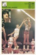 MIRZA DELIBASIC,SVIJET SPORTA BASKETBALL CARD - Basket-ball