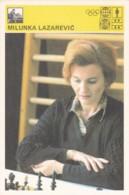 MILUNKA LAZAREVIC,SVIJET SPORTA CHESS CARD - Postcards