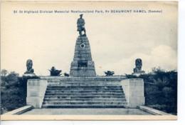 Dpt 80 Beaumont-Hamel Memorial Newfoundland Park St Highland Division No51 Guerre 14-18 - Francia