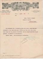 Italie  Lettre Facture Illustrée Style Arts Déco 24/11/1911 Unione Italiana Consumatori Concimi Prodotti Chimici MILANO - Italie