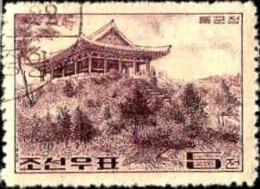 Corée Nord Poste Obl Yv: 528/529 Edifices Anciens 2.Serie (TB Cachet Rond) - Corée Du Nord