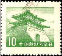 Corée Sud Poste Obl Yv: 187/190 Série Courante (cachet Rond) - Corée Du Sud
