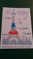 CPSM ILLUSTRATEUR BARBEROUSSE 1889 1989 CENTENAIRE DE LA TOUR EIFFEL DAME DE FER BLEU BLANC ROUGE  SIGNEE  DESSINATEUR - Barberousse