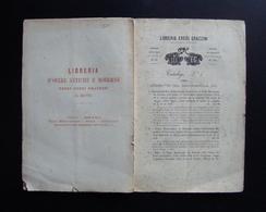 CATALOGO LIBRARIO N.1 1868 EREDI GRAZZINI FIRENZE SAVONAROLA LIBRI RARI CURIOSI - Zonder Classificatie