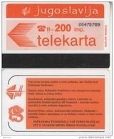 YUGOSLAVIA(Autelca) - Telecom Logo 200 Units(muflon Radece), CN : 8 Digits, Used - Joegoslavië