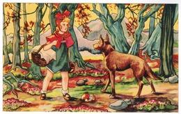 Roodkapje, Le Petit Chaperon Rouge, Little Red Riding Hood (pk55115) - Contes, Fables & Légendes