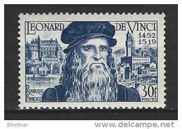 "FR YT 929 "" Léonard De Vinci "" 1952 Neuf** - Neufs"