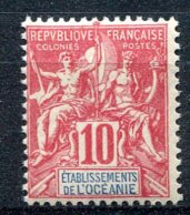 Océanie   ( Ets De L ' )        15  ** - Oceania (1892-1958)