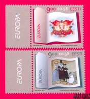 ESTONIA 2010 Europa CEPT Children Books Fairy Tales 2v Sc643-644 Mi664-665 MNH - Fairy Tales, Popular Stories & Legends