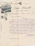 Italie  Lettre Facture Illustrée 23/5/1903 Luigi BRUSOTTI Vetri Cristalli E Specchi  MILANO - Italie