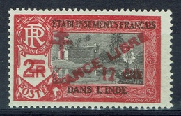 "French India, 12 Ca/2r, Overprint ""FRANCE LIBRE"", 1943, MNH VF - India (1892-1954)"