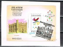 Hojita FILATEM Universiada Palma De Mallorca 1999, Edifil Num 3648 º - 1931-Hoy: 2ª República - ... Juan Carlos I