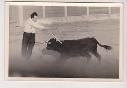 26742 Quatre 4 Photo Corrida Tauro Matador Picador -  Jacky  Rue General Gaulle Amelie Les Bains -PO France -année 50-60 - Sports
