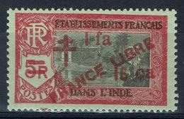 "French India, 12 Fa 16 Ca/5r, Overprint ""FRANCE LIBRE"", 1943, MNH VF - India (1892-1954)"