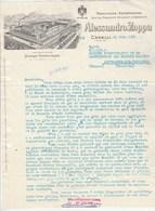 Italie Facture Lettre Illustrée 23/6/1960 Alessandro ZOPPA Vini Del Piemonte Spumanti E Vermouth CANELLI - Italie