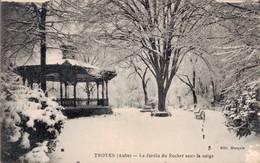 TROYES LE JARDIN DU ROCHER SOUS LA NEIGE - Troyes