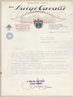 Italie Facture Lettre Illustrée 30/6/1971 LUIGI CAVALLI Stabilimento Vinicolo SCANDIANO ( Reggio Emilie ) - Italie