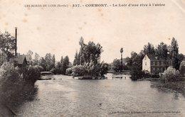CPA, Les Bords Du Loir, Coemont, Le Loir D'une Rive à L'autre, Moulin - Autres Communes