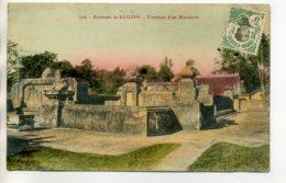 TONKIN SAIGON  Environs Tombeau Dun Mandarin écrite 1913  Timb    /D13-2017 - Viêt-Nam