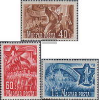 Hungary 1160-1162 (complete Issue) Unmounted Mint / Never Hinged 1951 Day The Work - Unused Stamps