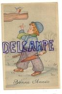 Bonne Année. Petite Fille Dans La Neige, Parapluie, Rouge-gorge. Coloprint 3645. 1946 - Nouvel An
