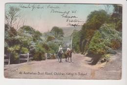 26743 An Australian Bush Road -children Riding To School - -wildt Kray London EC 1150 ! état ! - Australie