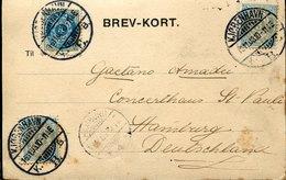 41764 Danmark, Circuled Card 1903 From Kobenhavn To Germany (see 2 Scans) - 1864-04 (Christian IX)