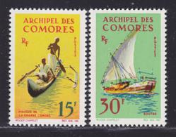 COMORES N°   33 & 34 ** MNH Neufs Sans Charnière, TB (D8265) Bateaux, Embarcations, Pirogue, Boutre - 1964 - Komoren (1950-1975)