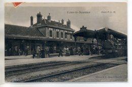 39 LONS Le SAUNIER Interieur De GARE PLM  Locomotive Train à L'Arrivée Voyageurs  1908 écrite      /D13-2017 - Lons Le Saunier
