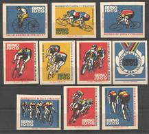 Czechoslovakia 1969 Matchbox Labels 10v - Boites D'allumettes - Etiquettes