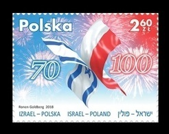 Poland 2018 Mih. 5034 Independence. Memory. Common Heritage (joint Issue Poland-Israel) MNH ** - 1944-.... République