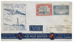 USA - 1939 - POSTE AERIENNE - ENVELOPPE  Par AVION De NEW YORK => PARIS - 1° VOL FAM 18 TRANSATLANTIC - Air Mail