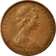 Monnaie, Nouvelle-Zélande, Elizabeth II, 2 Cents, 1967, TTB, Bronze, KM:32.1 - Roumanie