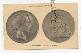 CPA Représentant Des Médailles: Charles De Brouckère Par J.P.Braemt - Monnaies (représentations)