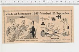 2 Scans 1955 Humour Jeu Joueurs Cartes Caravaniing Ancienne Caravane Boule De Cristal Voyante Antenne TV  223XW - Vieux Papiers