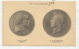CPA Représentant Des Médailles: Simon Lubin Et B.C. Du Mortier Par J. Leclerc - Monnaies (représentations)