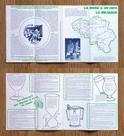 """Rare Dépliant Publicitaire """"Route De La Bière"""" 4 Circuits, Brasseries Belges - Alcohols"""