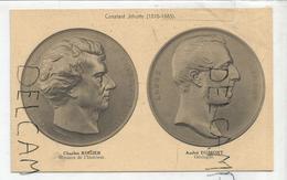 CPA Représentant Des Médailles: C. Rogier Et A. Dumont Per C. Jéhotte - Monnaies (représentations)