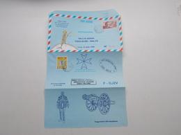 AEROGRAMME POUR LE RALLYE AERIEN TOULOUSE-MALTE DU 13 AU 15 AOUT 1995 - Postal Stamped Stationery