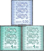 Estonia 357II C,376II A,376II B Unmounted Mint / Never Hinged 2001/02 Wappenlöwen - Estonia