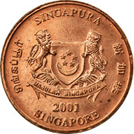 Monnaie, Singapour, Cent, 2001, Singapore Mint, TTB, Copper Plated Zinc, KM:98 - Singapour