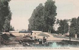 77 Moret Sur Loing. Le Pont Et L'ecluse Du Canal - Moret Sur Loing