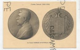 CPA Représentant Des Médailles: Le Comte Goblet D'Alviella Par C. Samuel - Monnaies (représentations)
